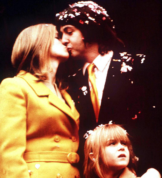 Paul e Linda Mc Cartney a colori