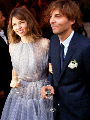 Thomas Mars e Sofia Coppola il giorno del matrimonio