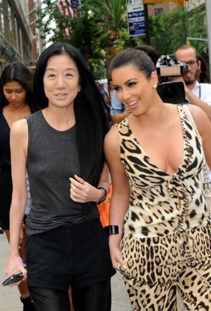 Kim Kardashian con Vera Wang