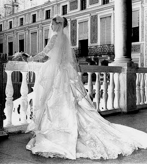 Grace Kelly in abito da sposa