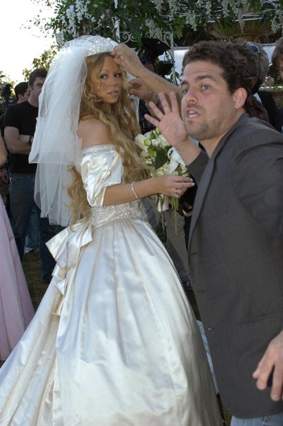 Mariah Carey in abito da sposa 1993