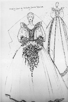 Bozzetto abito Lady D