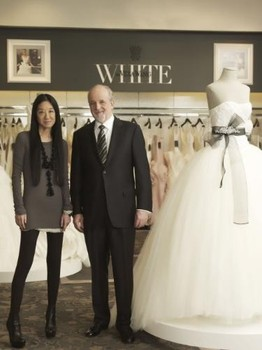 Vera Wang e Bob Huth, Presidente e CEO David's Bridal