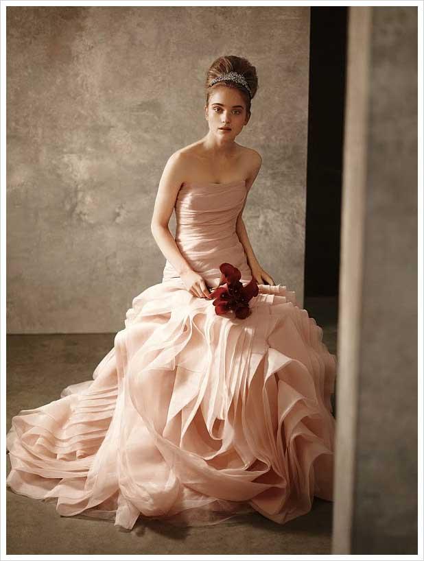 abito da sposa rosa White di Vera Wang Spring 2011