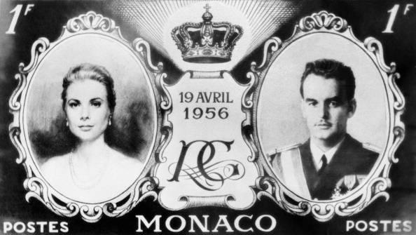 Francobollo postale emesso per le nozze tra Grace Kelly e il Principe Ranieri