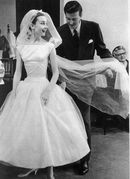 Audrey Hepburn sposa in Funny Face
