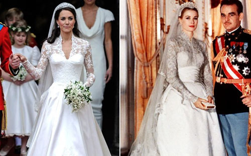 Abito da sposa Kate Middleton copia di Grace Kelly