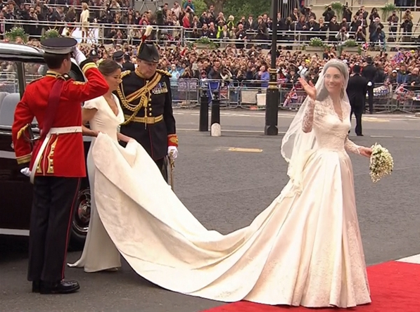 Kate Middleton in abito da sposa