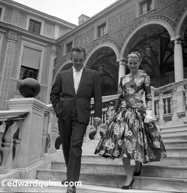 Grace Kelly e il Principe Ranieri 1955 - Foto da edwardquinn.com