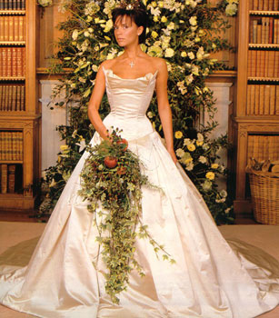 victoria beckham in abito da sposa