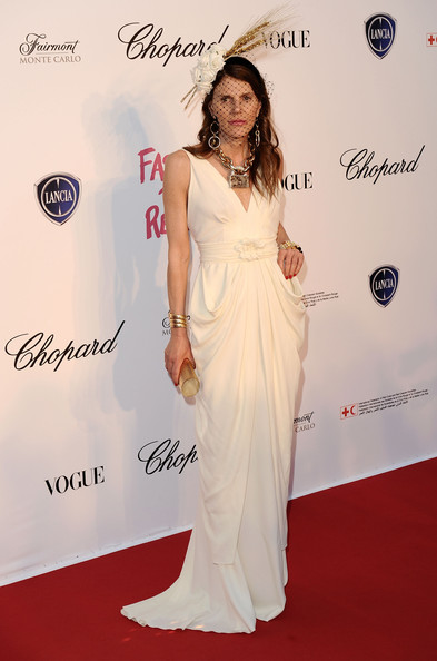 Anna dello Russo in Alberta Ferretti Forever al Festival del Cinema di Cannes 2011 - Foto Getty Images