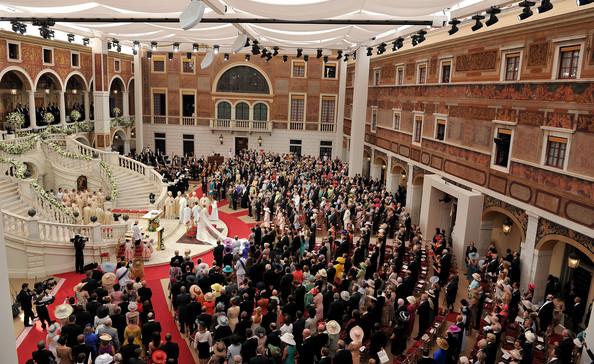 Atrio palazzo reale nozze Alberto di Monaco - Foto da zimbio.com