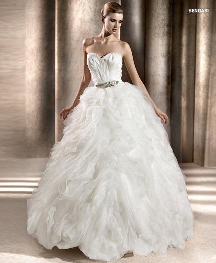 Pronovias abito da sposa Bengasi collezione The Dreams 2012