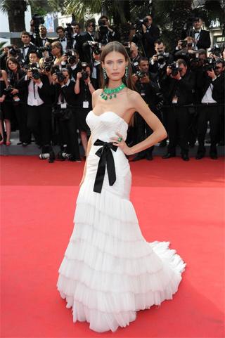 Bianca Balti in Alberta Ferretti Forever al Festival del cinema di Cannes 2011