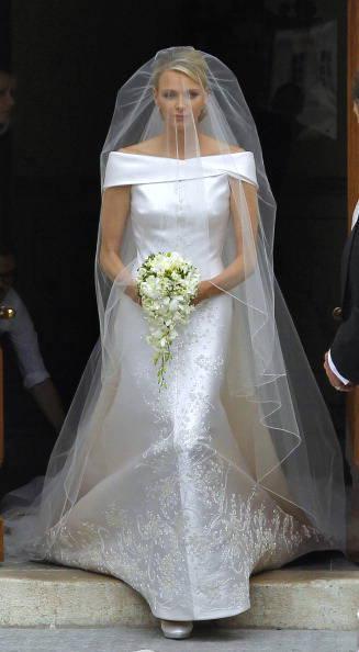 Charlene di Monaco arriva in chiesa al matrimonio