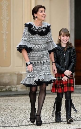 Caroline di Monaco con la figlia Alexandra di Hannover