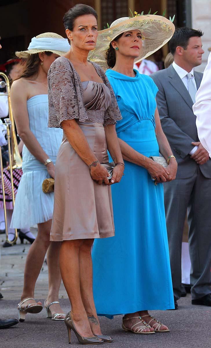 Caroline e Stephanie di Monaco a nozze civili Alberto e Charlene