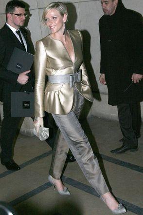 Charlene Wittstock a sfilata Armani - Foto da donnamoderna.com