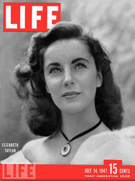 Liz Taylor copertina Life 1947