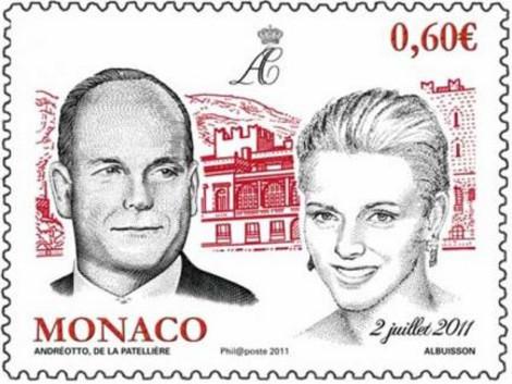 Francobollo nozze Alberto di Monaco