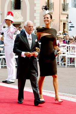 Giorgio e Roberta Armani alle nozze di Alberto e Charlene di Monaco