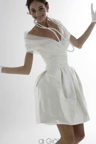 economico per lo sconto f4de2 2f643 Abito da sposa corto e chic: Le spose di Giò