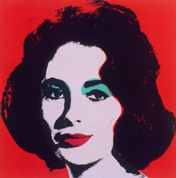 Liz Taylor by Andy Warhol