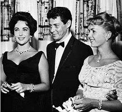 Liz Taylor con Eddie Fisher e Debbie Reynolds