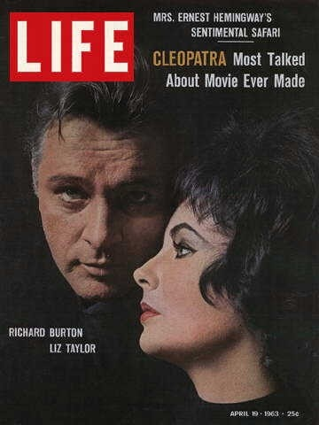 Liz Taylor e Richard Burton su copertina Life