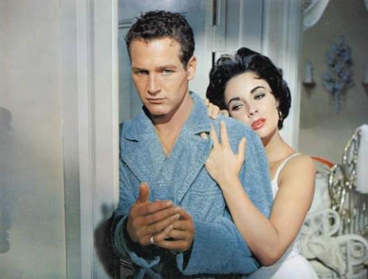 """Liz Taylor e Paul Newman ne """"La gatta sul tetto che scotta"""""""