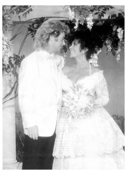 Liz Taylor nozze con Larry Fortensky 6.10.91