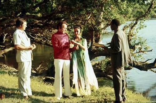 Liz Taylor seconde nozze con Richard Burton 10.10.75