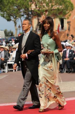Naomi Campbell con Vladimir Doronin a nozze Alberto e Charlene di Monaco