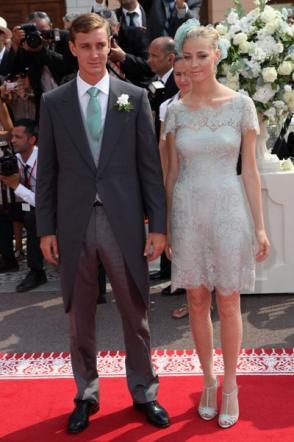 Pierre Casiraghi e Beatrice Borromeo alle nozze di Alberto - Foto da tgcom