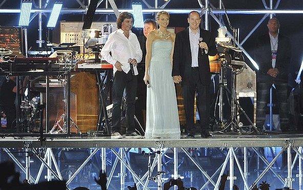 Alberto e Charlene di Monaco concerto nozze civili - Getty Images