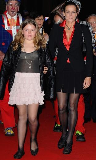 Stephanie di Monaco con la figlia Camille Gottlieb