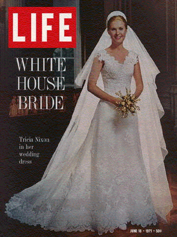 Tricia Nixon sposa con  Eddie Cox - Copertina su Life 1971 in Priscilla of Boston