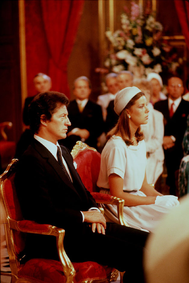 Nozze civili Carolina di Monaco Philippe Junot 1978 da royalweddings.hellomagazine.com