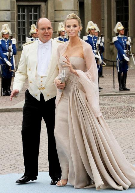 Alberto di Monaco e Charlene Wittstock alle nozze di Victoria di Svezia
