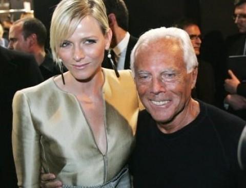 Charlene Wittstock e Giorgio Armani - Foto da donnatrendy.com