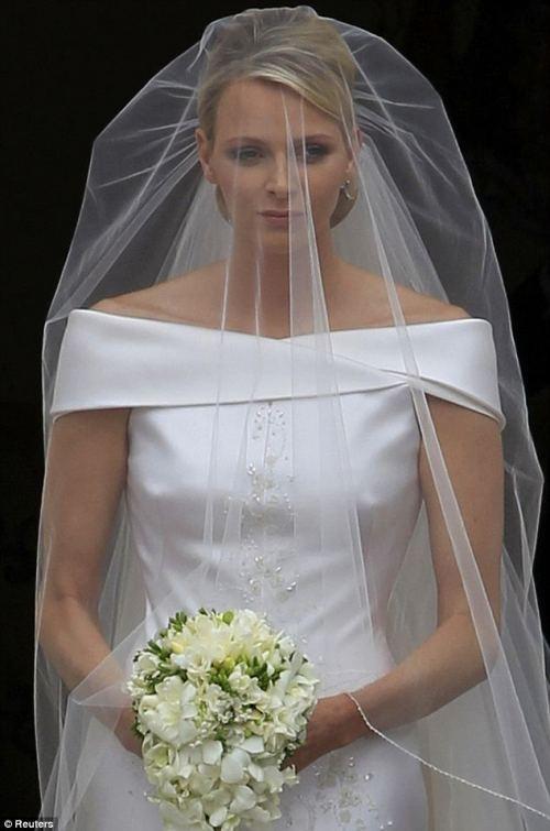 Charlene Wittstock alle nozze con Alberto di Monaco