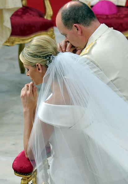 Charlene e Alberto di Monaco alle nozze - Foto Getty Images