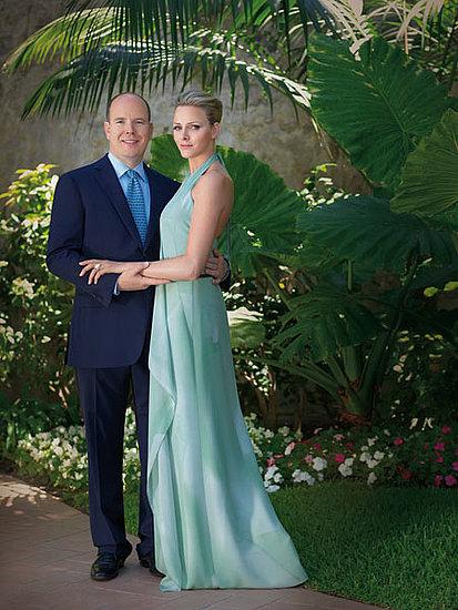 Fidanzamento ufficiale Alberto di Monaco Charlene Wittstock in abito Akris - Getty Images