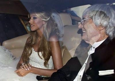 Petra e Bernie Ecclestone alle nozze