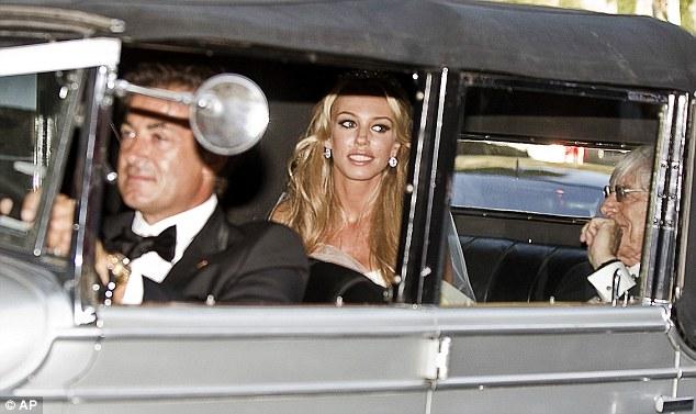Petra e Bernie Ecclestone ed Alesi alle nozze
