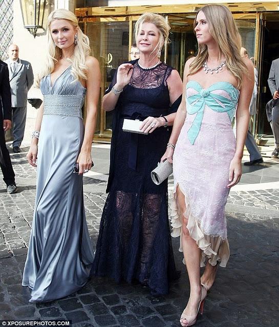 Paris e Nicky Hilton a nozze Petra Ecclestone