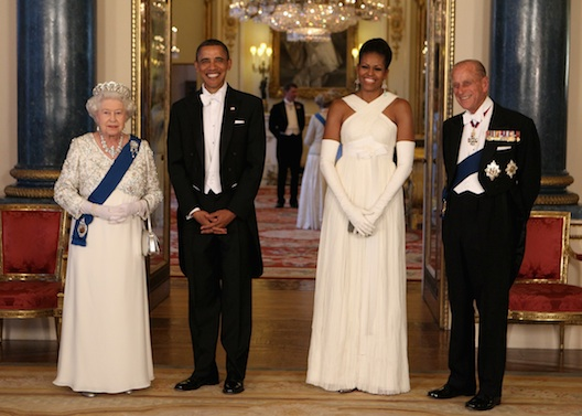 Barack e Michelle Obama in Tom Ford a Buckingham Palace - Foto Getty