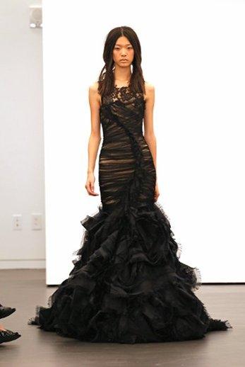 abito da sposa nero Vera Wang Fall 2012