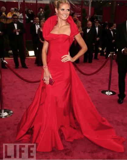Hedi Klum agli Oscar 2008 - foto da Life