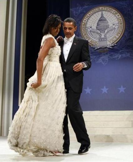 Michelle Obama al ballo inaugurale in Jason Wu